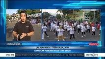 Ratusan Warga Trenggalek Senam Pagi Bersama Dukung Pemerintahan Jokowi-Ma'ruf Amin