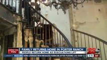 Residents return to destroyed home in Porter Ranch