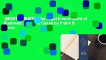 [MOST WISHED]  The Legal Environment of Business: Text and Cases by Frank B. Cross