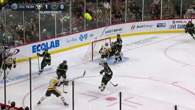 Sidney Crosby goes top shelf with backhand on breakway