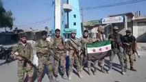 """اللحظات الأولى لسيطرة """"الجيش الوطني"""" على مدينة سلوك شمال الرقة (فيديو)"""
