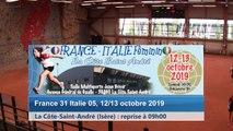 Sixième tour, doubles, combinés et simples, France / Italie féminin, La Côte-Saint-André 2019