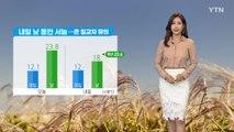 [날씨] 내일 낮 동안 서늘...큰 일교차 유의 / YTN