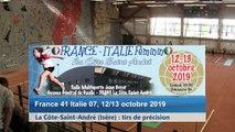 Septième tour, tir de précision, France / Italie féminin, La Côte-Saint-André 2019