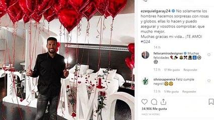 La romántica sorpresa de Tamara Gorro a Ezequiel Garay