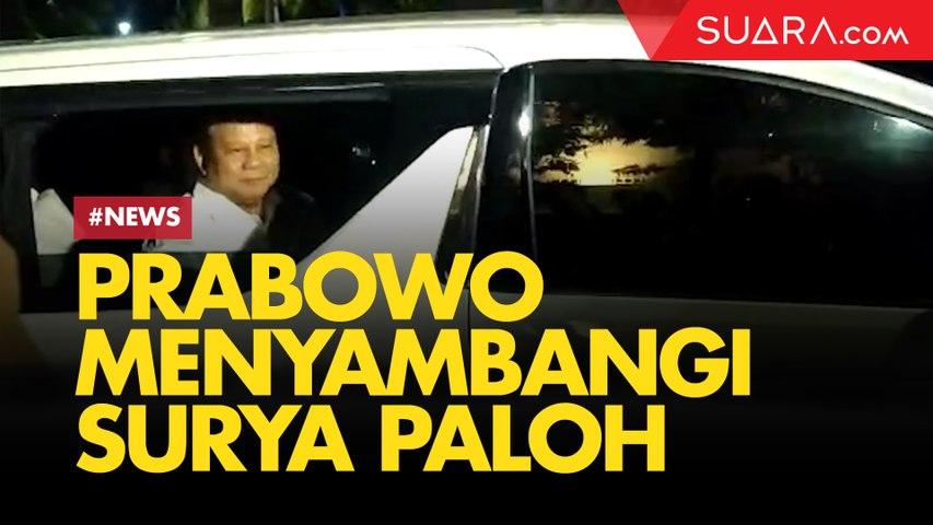 Prabowo dan Elite Gerindra Malam-malam Sambangi Rumah Surya Paloh