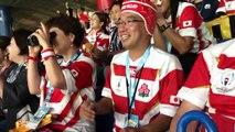 Mondial de rugby : les supporters japonais en folie après la qualification de leur équipe en quarts de finale