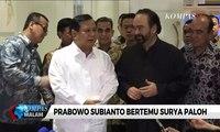 Prabowo dan Surya Paloh Sepakat Kepentingan Bangsa di Atas Urusan Parpol