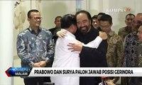 Ditanya Soal Gerindra Masuk Koalisi, Ini Jawaban Prabowo dan Surya Paloh