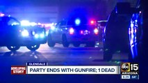 Party ends with gunfire; one dead