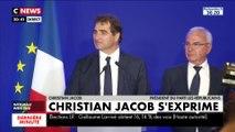Christian Jacob, élu président des Républicains, s'exprime depuis le siège du parti