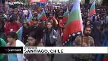 """شاهد: """"المابوتشي"""" يطالبون بالمزيد من الحقوق في تشيلي"""