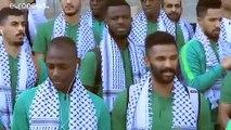 شاهد: المنتخب السعودي لكرة القدم في الأراضي الفلسطينية لأول مرة في تاريخه