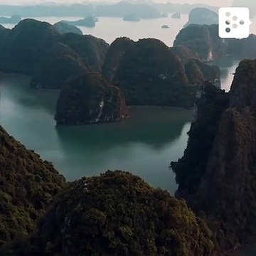 The air view of Ho Long Bay