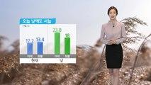 [날씨] 찬 공기 유입되며 오늘 기온 뚝...낮에도 서늘 / YTN