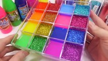 Mixing Slime Water Clay Glitter Learn Colors Surprise Eggs Toys Toys For Kids