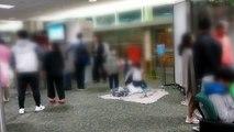 KAL 항공기 이상으로 괌 공항 4시간 지연 출발...승객들 항의 / YTN