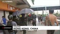 شاهد: مظاهرات هونغ كونغ تتحول إلى أعمال شغب