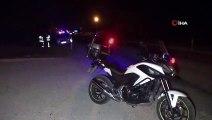 Kaza yerinde tespit tutanağı tutan sigortacıya otomobil çarptı