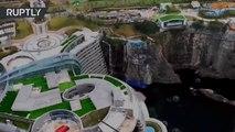 Así es el primer hotel subterráneo en una cantera abandonada en China