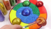 Water Balloons Foam Clay Cake Mixing Slime Learn Colors Surprise Eggs Toys Toys For Kids