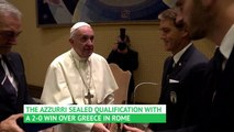 Italy meet the Pope to celebrate Euro 2020 qualification