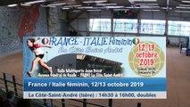 Premier tour, double, France / Italie féminin, La Côte-Saint-André 2019
