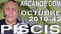 PISCIS OCTUBRE 2019 ARCANOS.COM - Horóscopo 13 al 19 de octubre de 2019 - Semana 42