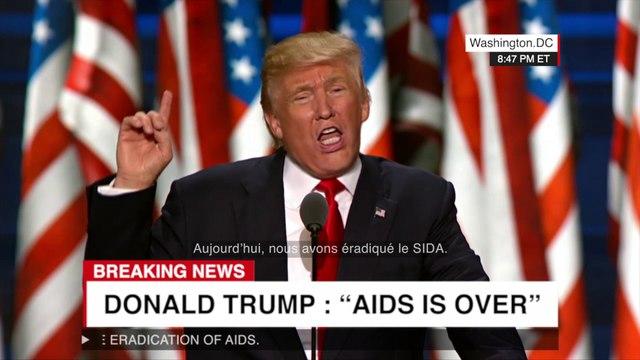 Trump annonce la fin du sida