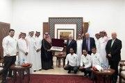 بعثة المنتخب السعودي تصل فلسطين.. هكذا رحب بهم الرئيس محمود عباس