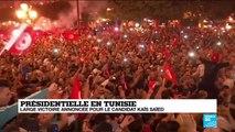 Présidentielle en Tunisie : large victoire annoncée pour le candidat Kais Saied