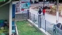Güvenlik kamerasına yakalanan hırsızlık şüphelileri kovalamaca sonucu yakalandı