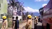Rodel Masala Company in Theni Engulfed in Fire Fire Services pressed