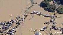 Découvrez les images impressionnantes des inondations au Japon après le passage du typhon Hagibis qui a tué au moins 35 personnes