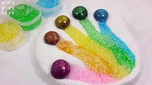 Learn Colors Surprise Egg Toys Glue Slime Balloons Clay Foam Finger Colors Toys For Kids