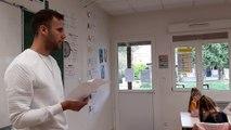 Le milieu de terrain de l'Amiens SC, Alexis Blin a lu la dictée ELA aux enfants de l'école Saint Jean d'Amiens