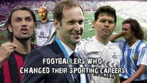 Footballers who changed their sporting careers