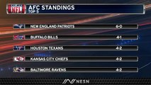 Bills In Second In AFC Standings After Week 6