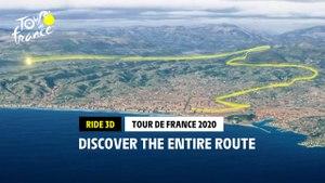 Parcours / Route 3D - Tour de France 2020