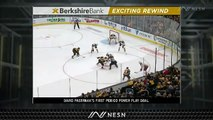 Bruins' First Period Dominance Continues Monday With David Pastrnak Goal