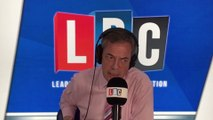 """Caller Challenges Nigel Farage: """"Where Is Your Factual Evidence?"""""""