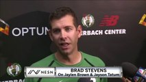 Brad Stevens On Development Of Jayson Tatum And Jaylen Brown