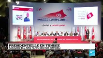 Présidentielle en Tunisie : Kaïs Saeid élu avec 72,71% des voix