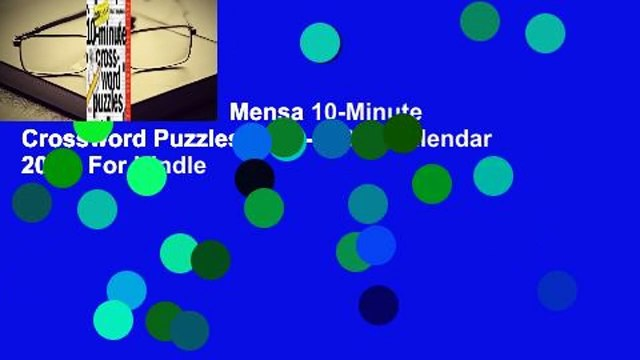 About For Books  Mensa 10-Minute Crossword Puzzles Page-A-Day Calendar 2020  For Kindle
