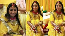 Mohena Kumari Singh looks beautiful in her Haldi ceremony; Check out here | FilmiBeat