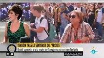 'Ya es Mediodía' manipula las imágenes para ocultar la brutal agresión a una mujer por parte de un separatista