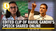 Delhi MLA Shares Edited Clip of Rahul Saying 'Don't Care About India'