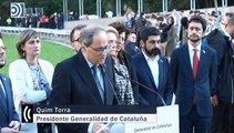 Quim Torra y Pere Aragonès alientan los disturbios en el homenaje a Lluís Companys
