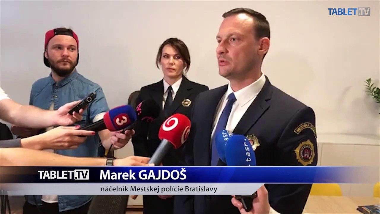 ZÁZNAM:  Brífing náčelníka Mestskej polície hladného mesta SR Bratislavy Mareka Gajdoša