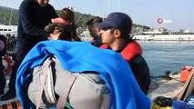 Çeşme'de göçmen botu alabora oldu